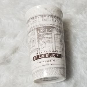 Starbucks ceramic reusable mug cup 12 oz. White